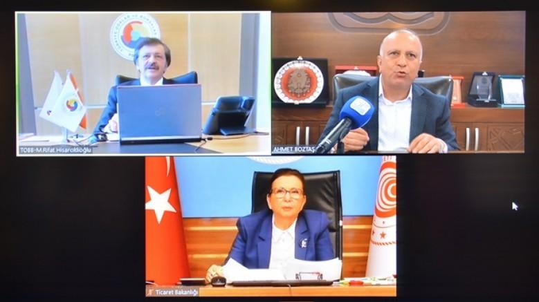 Başkan Boztaş, sorunları Bakan Pekcan'a aktardı..