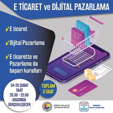 MATSO E- Ticaret ve Dijital Pazarlama eğitimi düzenliyor..