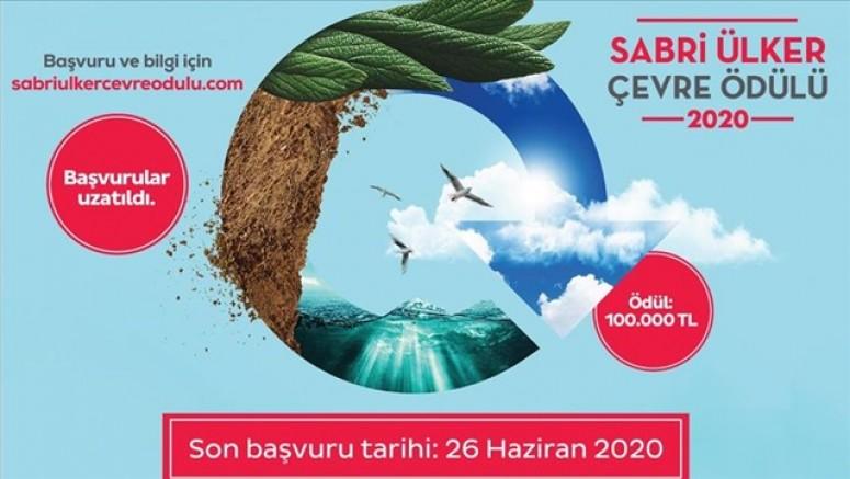 Sabri Ülker Çevre Ödülü'ne başvurular 26 Haziran'a uzatıldı...