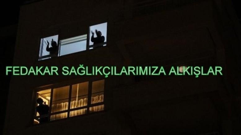 Sağlık çalışanlarına Antalya'dan alkışlı destek..