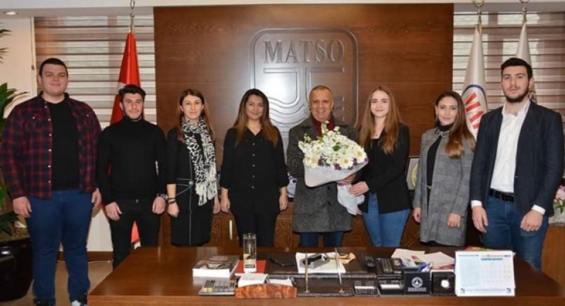TURİZM FAKÜLTESİNDEN MATSO BAŞKANINA ZİYARET..